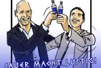 Grexit in a Bottle? Oh...right on time... Zum Wohl! Is it for Greeks?